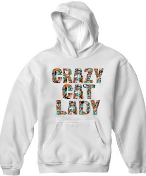 Unisex Premium Hoodies crazy cat lady design