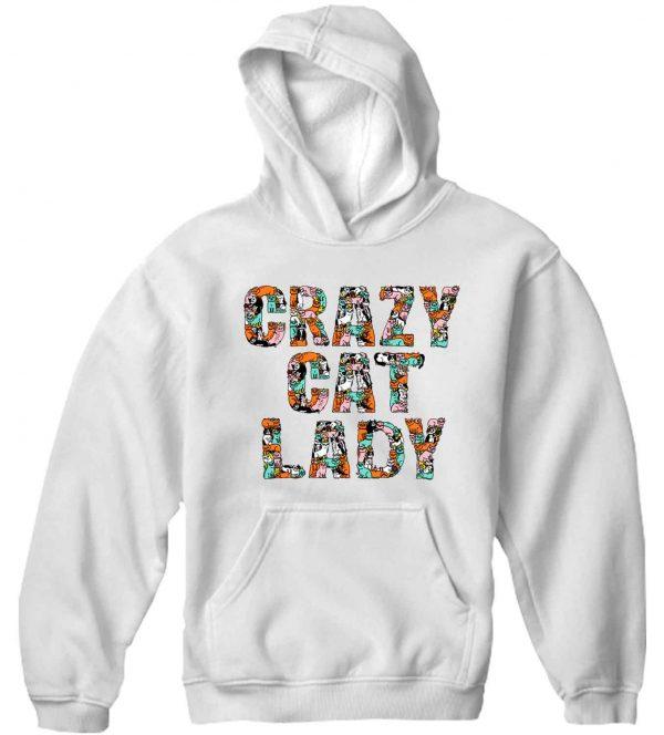 Unisex Premium Hoodies crazy cat lady design