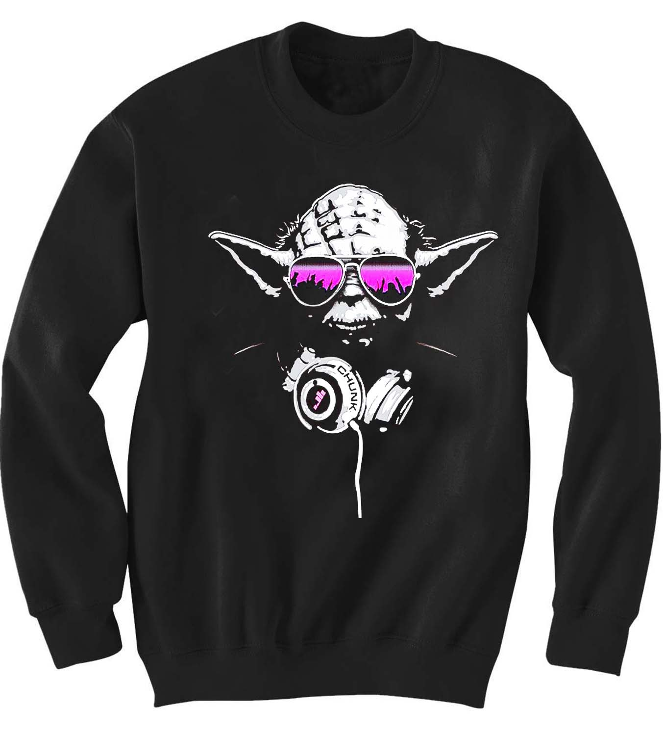 Crewneck Sweatshirts yoda beats design