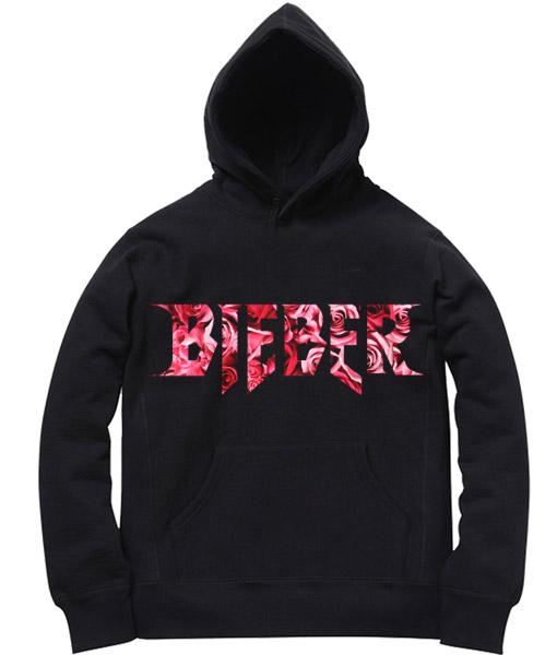 Unisex Premium Hoodies Bieber Logo Design