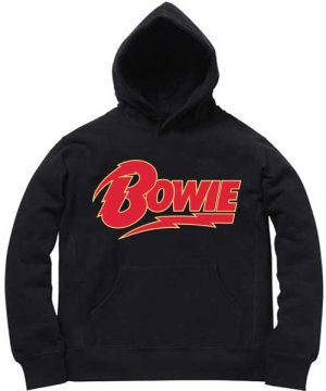 Unisex Premium Hoodies David Bowie Logo Design