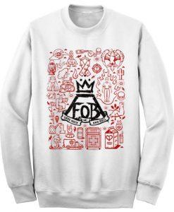 Unisex Crewneck Sweatshirts Fall Out Boy Logo Design