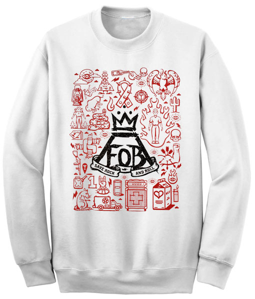 Unisex Crewneck Sweatshirts Fall Out Boy Logo Design