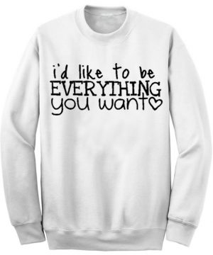 Unisex Crewneck Sweatshirts Justin Bieber Song Lyrics