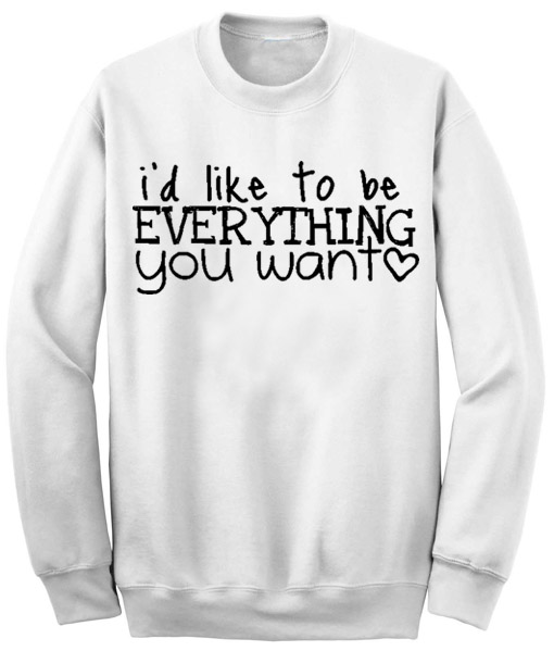 Unisex Crewneck Sweatshirts Justin Bieber Song Lyrics