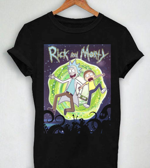 Unisex Premium Tshirt Rick And Morty Design