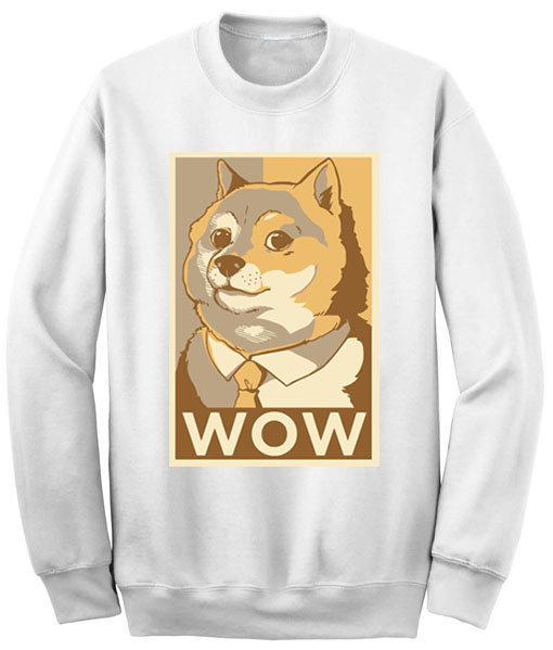 Unisex Crewneck Sweatshirts Such Wow Doge Design