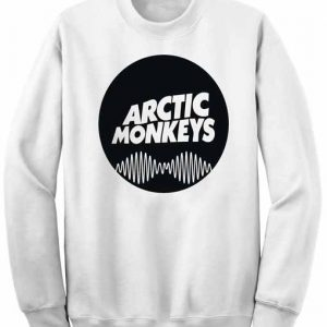 Unisex Crewneck Sweatshirts Arctic Monkeys Logo