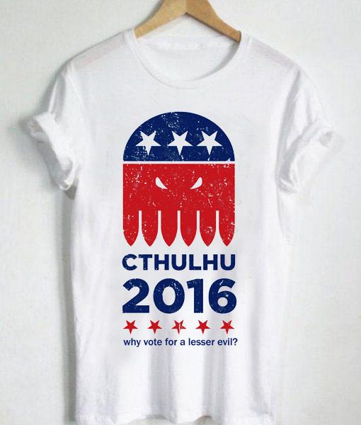 Unisex Premium Tshirt Cthulhu For President
