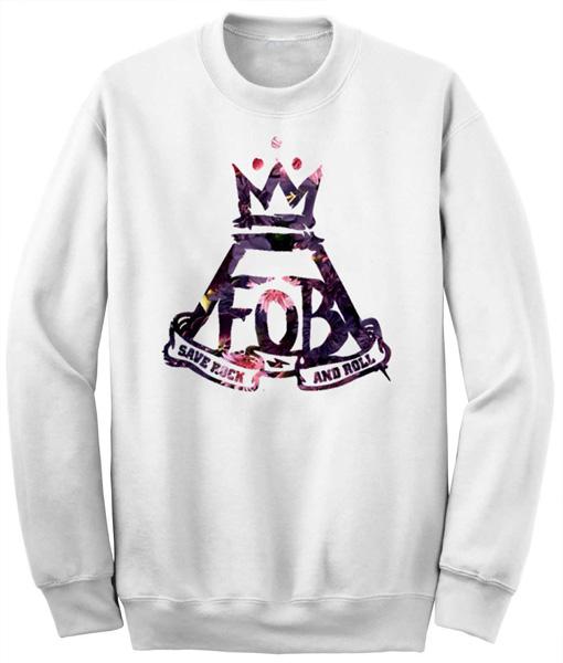 Unisex Crewneck Sweatshirts FOB Logo Flower Design