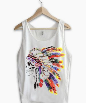 Unisex Tank top men women Indian Skull