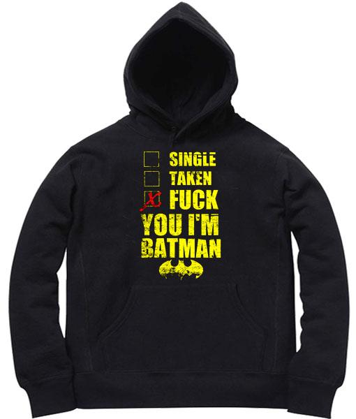 Unisex Premium Batman Fuck Batman Hoodie Quotes
