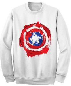 Unisex Crewneck Captain America Shield Sweatshirts