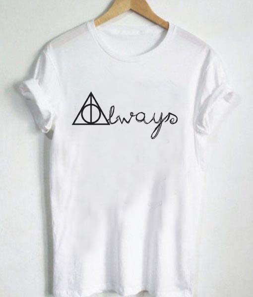 0456944f8 Unisex Premium Harry Potter Always Tshirt T-shirt Quotes