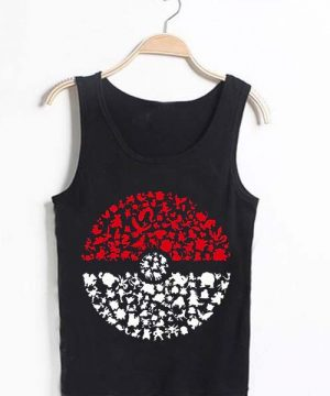 Unisex Tank top men women Pokemon Ball design