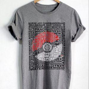 Unisex Premium Pokemon Ball Tshirt T-shirt Quote