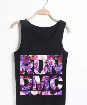 Unisex Tank top men women Run DMC Flower