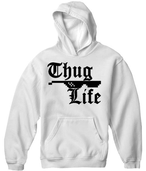 Unisex Premium Thug Life Hoodie Quotes