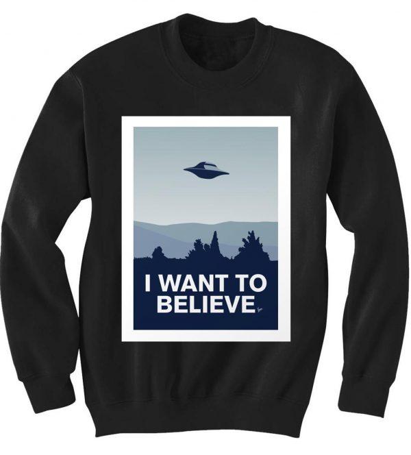 Unisex Crewneck X Files Sweatshirts