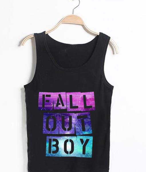Unisex Tank top men women Fall Out Boy Colorful design