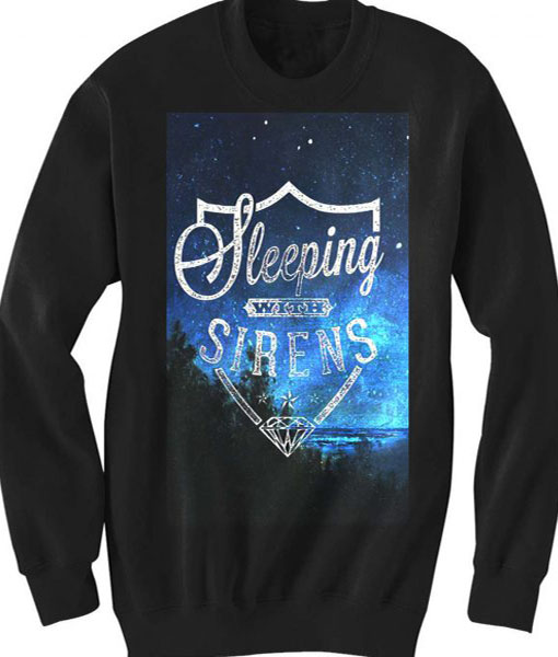 Unisex Crewneck Sweatshirts Sleeping With Sirens Logo