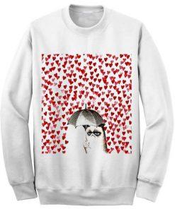 Unisex Crewneck Grumpy Cat Sweatshirts Sweater
