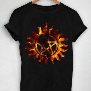 Unisex Premium Supernatural Logo Fire Flower Tshirt T-shirt