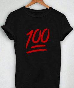 Unisex Premium Tshirt 100 Emoji Design Logo