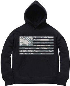 Unisex Premium American Flag Camo Logo Hoodie