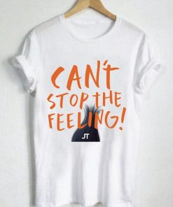 Unisex Premium Tshirt Can't Stop The Feeling Logo