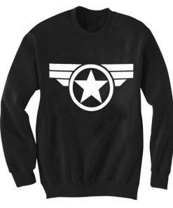 Unisex Crewneck Captain America logo Sweatshirts Sweater