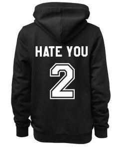 Unisex Premium Hate You Too Logo Hoodie