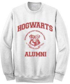 Unisex Crewneck Hogwarts Alumni White Sweatshirts Sweater