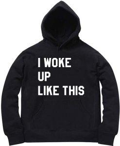 Unisex Premium I Woke Up Like This Logo Hoodie