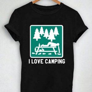 Unisex Premium Tshirt I Love Camping