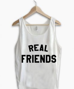 Unisex Men Women Real Friends Tanktop Tank Top