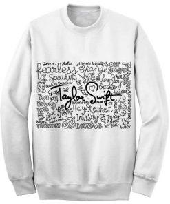 Unisex Crewneck Taylor Swift Quotes Sweatshirts Sweater