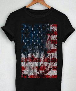 Unisex Premium Tshirt American Flag Design