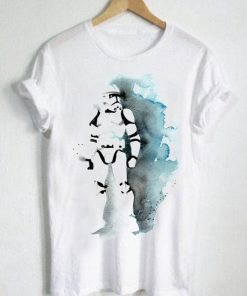 Unisex Premium Tshirt Stormtrooper Watercolor Design