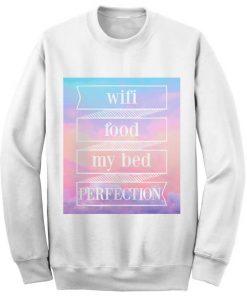 Unisex Crewneck Wifi Food My Bed Sweatshirts Sweater