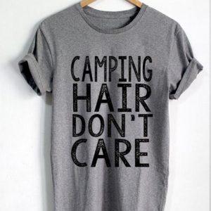 Unisex Premium Tshirt Camping Hair Dont Care