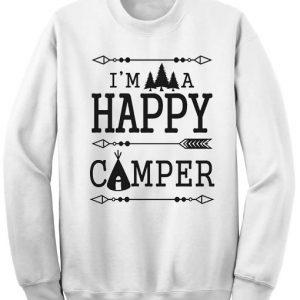 Unisex Crewneck Happy Camper Sweatshirts Sweater