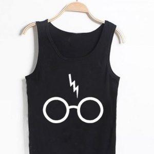 Unisex Men Women Harry Potter Lightning Glasses Tanktop Tank Top