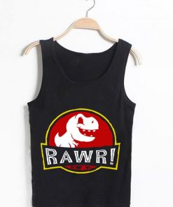 Unisex Men Women Jurassic Rawr Tanktop Tank Top