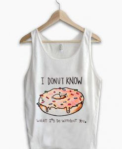 Unisex Men Women Love Donut Tanktop Tank Top