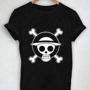 Unisex Premium Tshirt Straw Hat Pirates Logo