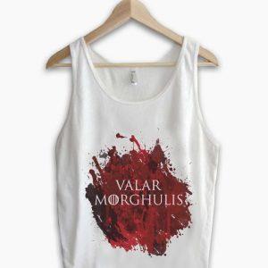 Unisex Men Women Valar Morghulis Tanktop Tank Top