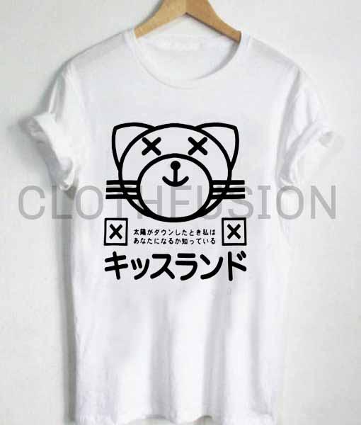 74edc219 Unisex Premium Cat Cute Logo T shirt Design Clothfusion