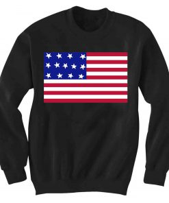 Unisex Crewneck Sweatshirt American Flag Logo Design