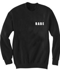 Unisex Crewneck Sweatshirt Babe Logo Black Design Clothfusion